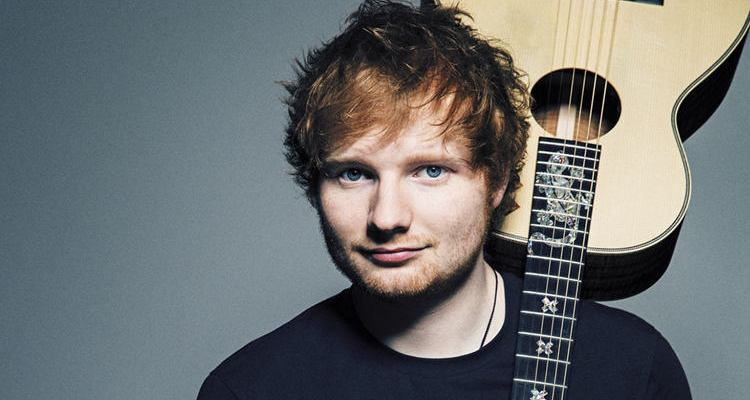 ed sheeran portrait with guitar