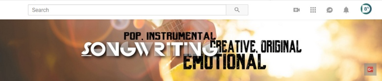 Songwriting YouTube Channel Desktop Device
